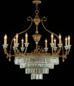Crystal chandelier - Oval Chandelier Rust Brown