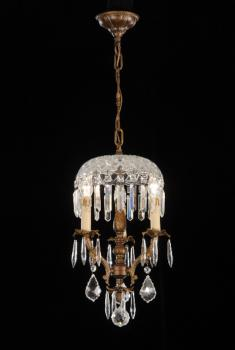 Crystal chandelier - Chandelier Rust Brown