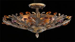 Crystal chandelier - Old Vintage Chandelier-Color Crystal