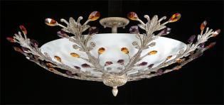 Crystal chandelier - Chandelier Roman Pewter-color crystal