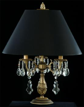 Crystal chandelier - Chandelier Antique Brass-Full Leaded Crystal