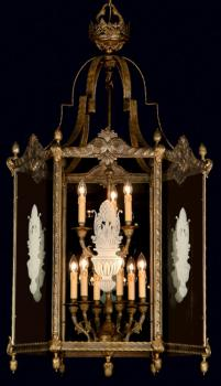 Crystal chandelier - Chandelier Gold  Forge-glass