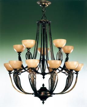 Crystal chandelier - Chandelier Rust Brown-Champagne Alabaster