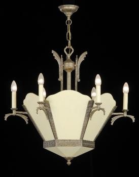 Crystal chandelier - Chandelier Roman Pewter-cream crystal