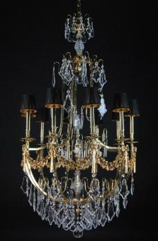 Crystal chandelier - GOLD+BROWN PT